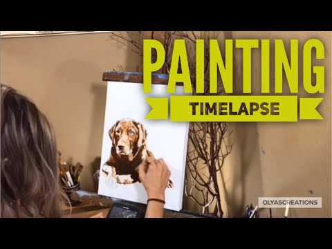 Painting timelapse - What I'm working on . Oil painting pet portraits