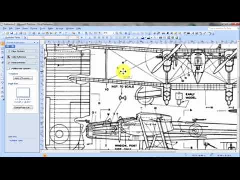 How to enlarge and print 3 view scale plans for model aircraft.