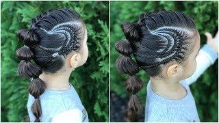 Peinado Con Chongo Y Trenza Pull Troughpeinados Faciles Para Ninaslph - Trenzas-faciles-para-nia