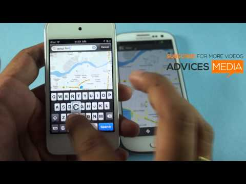 Google Maps App on iPhone 5 iOS 6 with Directions Search & Locate Track Features