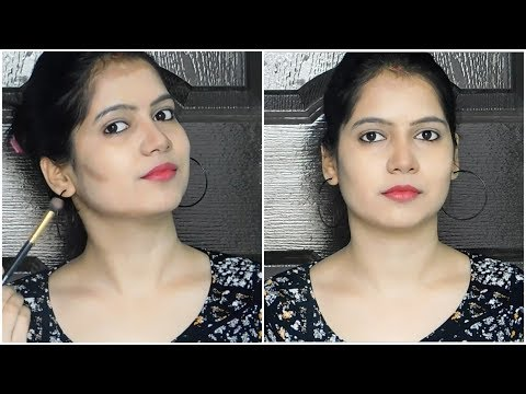 How To Contour Your Face Step By Step In Hindi | Face Contouring Tutorial || TipsToTop By Shalini