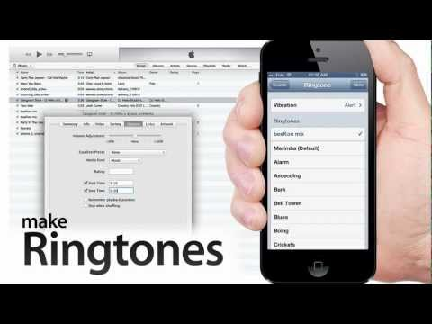 How to MAKE RINGTONES from Music using iTunes 11 for iPhone, iPad, iPod