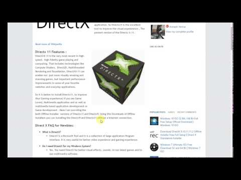 How to Install DirectX |9|10|11|12 for Windows