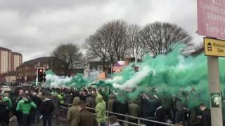 Green Brigade   Celtic Ultras Corteo   Celtic Fans   Celtic vs Rangers*