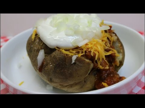 Chili Stuffed Baked Potatoes~Budget Friendly Bulk Cooking Recipes~Quick and Easy~Noreen's Kitchen