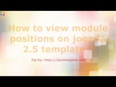 Video tutorial how to view module positions on joomla 2 5 template