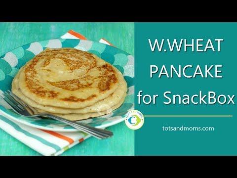 WholeWheat Pancake for Babies & Kids | Breakfast or Snackbox Recipe | Finger Food 8 months Baby Food