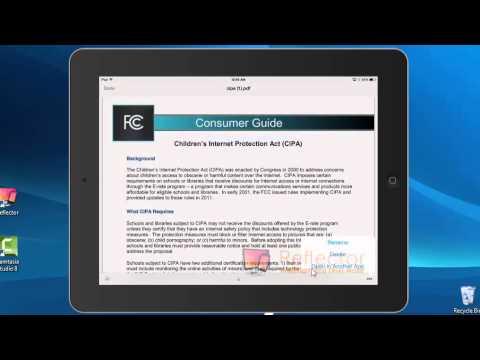 Save a pdf in iBooks