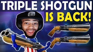 TRIPLE DOUBLE BARREL SHOTGUN | TRIPLE SHOTTY IS BACK! - (Fortnite Battle Royale)