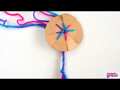 How to make a friendship bracelet with a cardboard loom