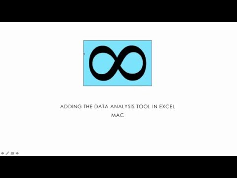 17 Adding the Data Analysis Tool in Excel - Mac