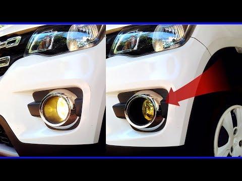 Renault Kwid Fog Lights Yellow Tint DIY - Cheap VISUAL DIY Budget Car Mods