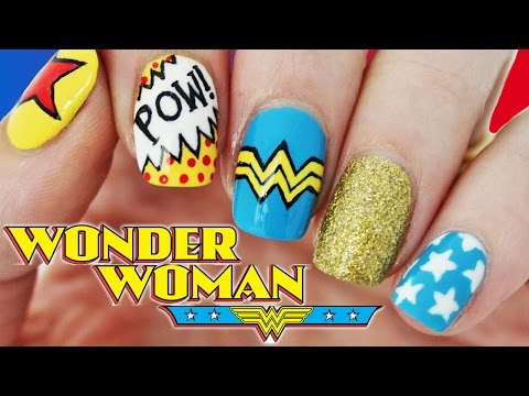 Wonder Woman Nail Art - Perfect for the Movie Premiere! ★ Nailed It NZ