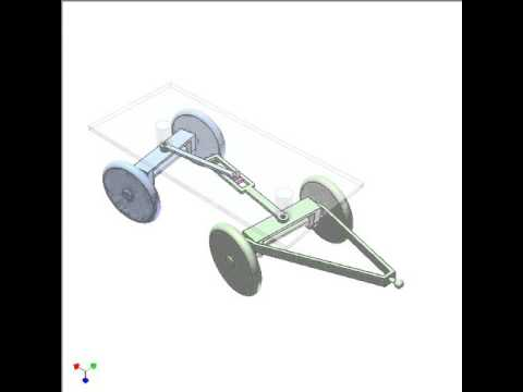 Mechanism for steering a 4-wheel trailer with small turning radius 2