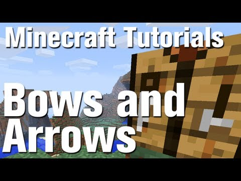 Minecraft Tutorial: How to Make a Bow and Arrow