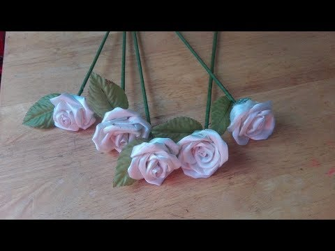 DIY Fabric Rose Flowers from Old Clothes