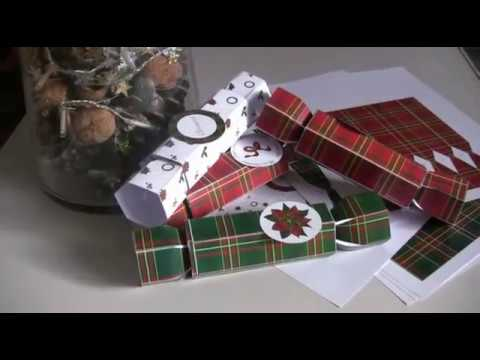 Tutoriel printable crackers de noël - how to with the printable christmas crackers