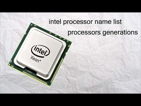 intel processor name | intel processors generations