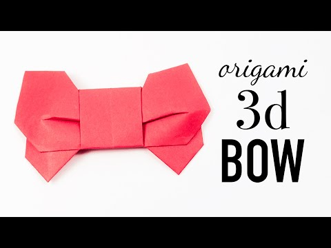 Origami 3D Ribbon / Bow Tutorial 🎀 DIY 🎀