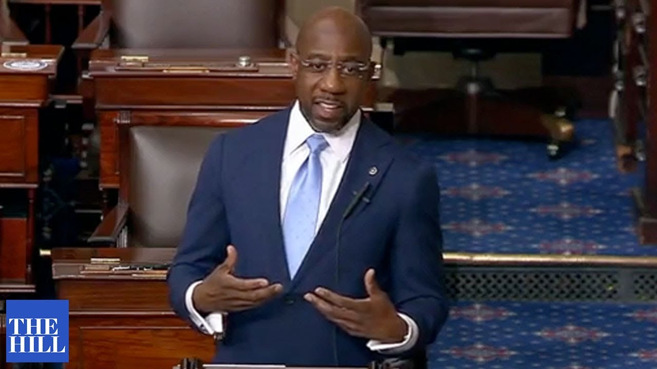 Raphael Warnock gives FIRST speech from the Senate floor