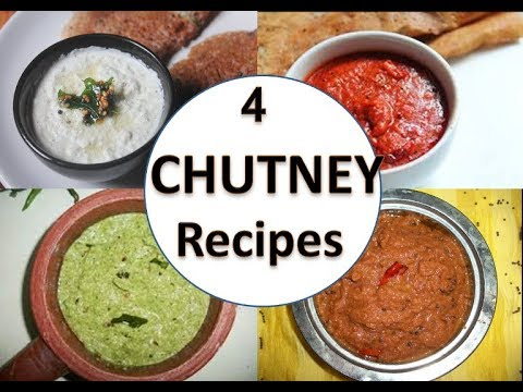 4 Chutney Recipes in under 15 mins - BREAKFAST SPECIAL