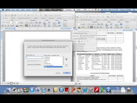 Create a Database Mailing List