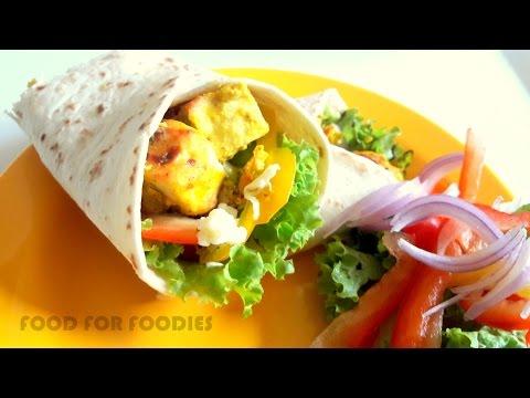 Paneer Tikka Wrap in Mexican tortilla | Indo-Mexican Fusion Recipe