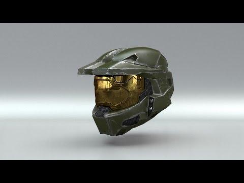 Master Chief's Helmet modeling timelapse