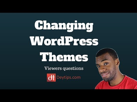 Viewers Questions : Changing WordPress Themes | Backing Up A WordPress Site