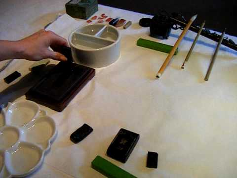 Sumi-e: How to make ink for your Japanese brush painting