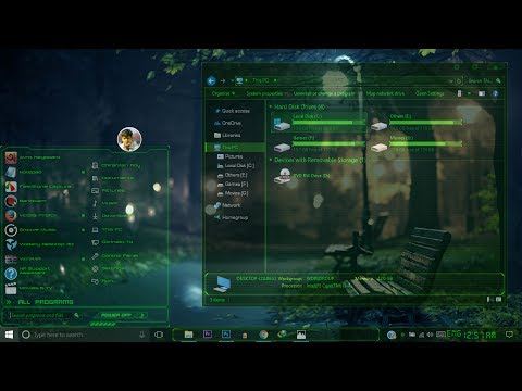 Best Windows 10 Transparent Theme For All Version of Win 10 Full glass | Customize Windows 10 Theme