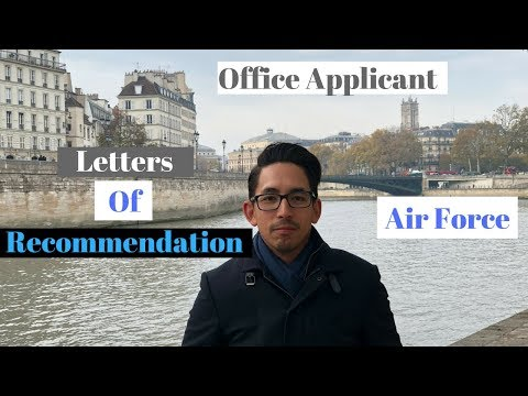 Air Force Officer Applicant.  Letters Of Recommendation