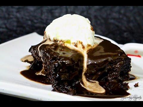 Microwave Chocolate Fudge Cake Recipe in Tamil