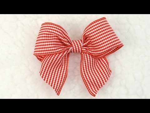 DIY Gingham Bow, Tutorial, DIY,  Ribbon Bow #6