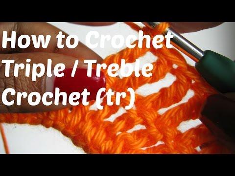 How to Crochet - The Triple / Treble Crochet Stitch (TR)