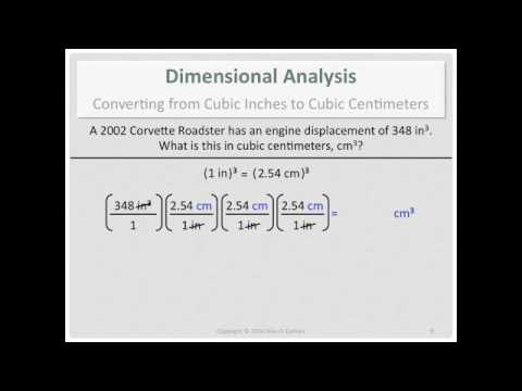 Dimensional Analysis: Converting from Cubic Inches to Cubic Centimeters