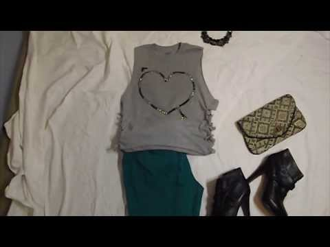DIY T-shirt: Design Your Own TShirt/ Fashion Styling DIY Tutorial (How to Style a Tshirt)