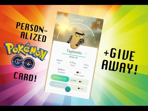 How to Make Your Own Pokémon GO Card! (Photoshop)