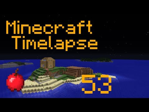 Pig Island Under Construction - Minecraft - Timelapse - Survival Island - Part 53