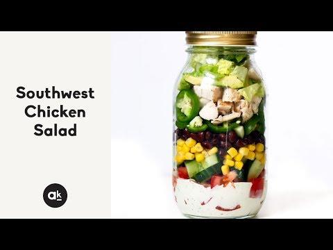 Southwest Chicken Salad with Chipotle Greek Yogurt Dressing