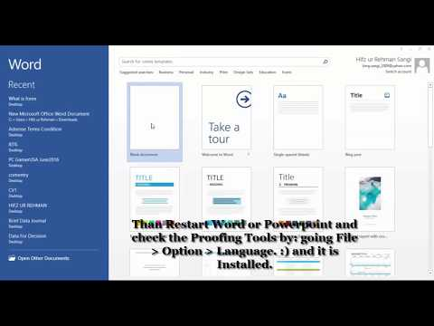 Microsoft Word Proofing Tools