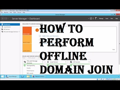 How to Perform an Offline Domain Join in Active Directory