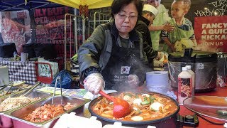 Download Korean Spicy Rice Cake and Pancakes. London Street Food Video