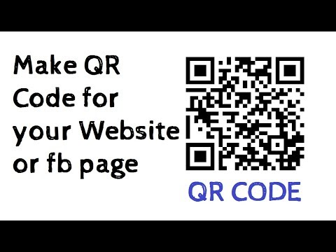 How to make a qr code for your website or fb page | Easy Tutorial