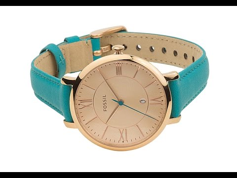 ES3736 - Fossil Jacqueline Turquoise Leather Ladies Watch