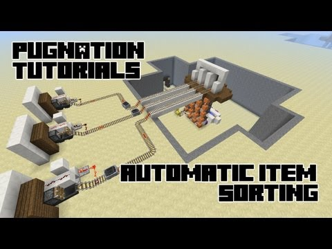 Automatic Item Sorting and Automatic Item Transportation!  Compact and Easy! - A Minecraft How-to!