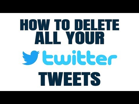How to BULK delete ALL your TWEETS (automatically)!