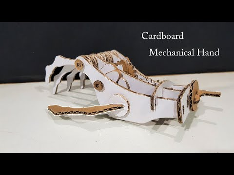 How to make Mechanical Robotic Hand From Cardboard