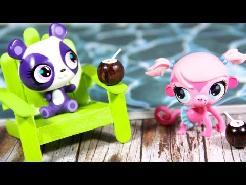 How to Make Doll Beach Chairs/ Patio Chairs | Plus Bonus Craft : Coconut Milk Drink