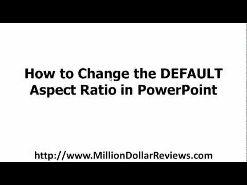 Change Default Aspect Ratio (to 16:9) in PowerPoint
